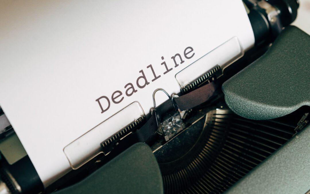 Important Deadline: 30 September 2021